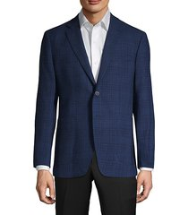 check wool & flax sport coat