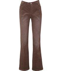 pantaloni in velluto elasticizzato flared (marrone) - john baner jeanswear