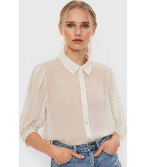 blusa vero moda crudo - calce holgado