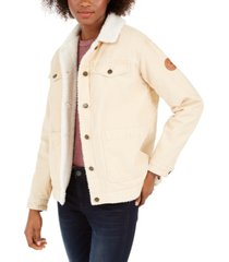 roxy juniors' bright night fleece-lined corduroy jacket
