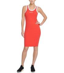 dkny sport logo ringer tank top dress