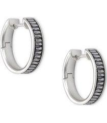 """kendra scott small baguette-crystal hoop earrings, 1"""""""