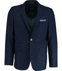 bos bright blue blue eight jacket slim fit 183038ei63bo/290 navy blauw