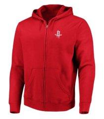 majestic houston rockets men's toby full zip hoodie