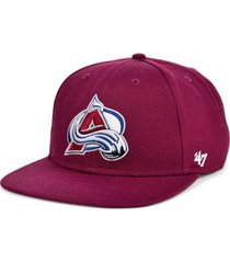 '47 brand colorado avalanche no shot snapback cap