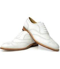 handmade men wingtip brogue formal shoes, men party dress white shoes, men shoes
