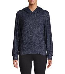 heathered dolman-sleeve hoodie