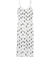 theory women's geo print silk midi slip dress - grey - size 00