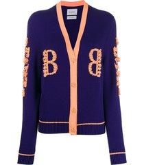 barrie tassel trim cardigan - purple