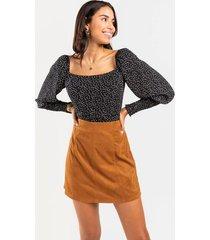 julianne faux suede mini skirt - tan