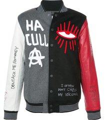 haculla skribble varsity jacket - multicolour