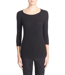 women's atm anthony thomas melillo 'jackie' long sleeve tee, size large - black