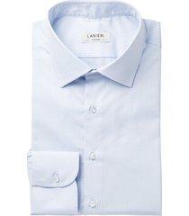 camicia da uomo su misura, canclini, azzurra twill cotone, quattro stagioni | lanieri