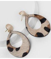 audrey leopard teardrop earrings - leopard