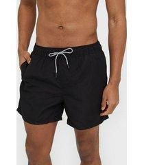 jack & jones jjiaruba jjswim shorts akm sts badkläder svart