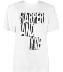 harper & yve t-shirt ss20k300 ecru