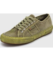zapatilla verde superga cotu military