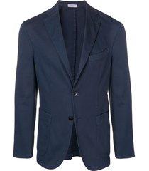 boglioli long sleeved suit jacket - blue