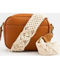 nirobi macrame handbag strap - ivory