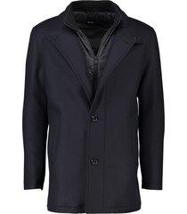 hugo boss jas coxtan9 donkerblauw half lang model