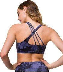 onzie women's aerial yoga sports bra - amethyst tie dye sm