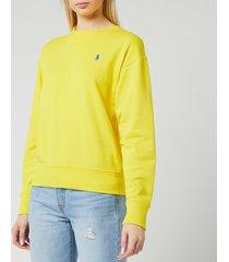 polo ralph lauren women's long sleeve classic sweatshirt - lemon crush - s