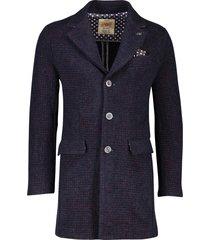 bob lang model jas donkerblauw bordeaux