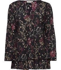 betty top blouse lange mouwen zwart masai