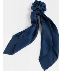 emilee long silky pony scarf - navy
