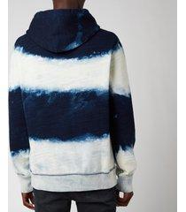 polo ralph lauren men's garment dyed fleece hoodie - dark indigo cloud wash - xl