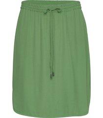 r8155, elastic waist skirt kort kjol grön saint tropez