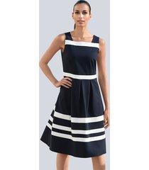 jurk alba moda marine::wit