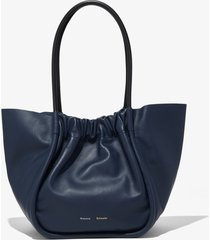 proenza schouler ruched l tote dark navy/blue one size