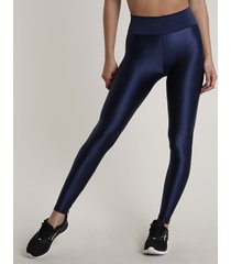 calça legging feminina esportiva ace texturizada azul escuro