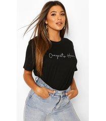 congrats hun slogan t-shirt, black
