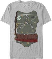 star wars men's classic boba fett bounty hunter costume short sleeve t-shirt