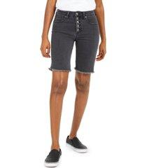 oat button-fly denim bermuda shorts
