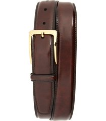 men's johnston & murphy smooth leather belt