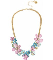 betsey johnson flower cluster necklace