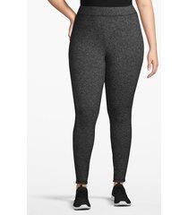 lane bryant women's active cozy touch 7/8 legging 26/28 black/white marled