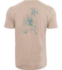 t-shirt masculina aquarela coqueiros - marrom
