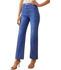 women's reformation cowboy high waist straight leg jeans, size 28 - blue