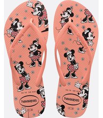 chinelo havaianas feminino minnie slim disney