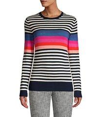 jet set jungle colette stripe wool sweater