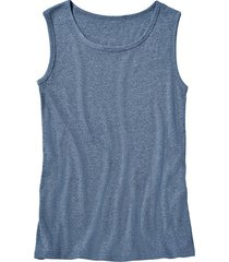 t-shirt zonder mouwen, jeansblauw-gemêleerd xl