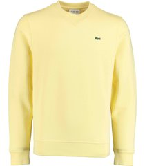 lacoste pullover geel regular fit sh1505/2y1