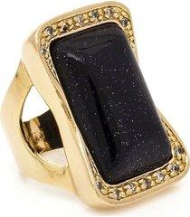 anel banhado a ouro pedra estrela e zirconias