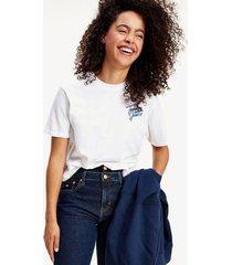 polera cropped algodón orgánico blanco tommy jeans