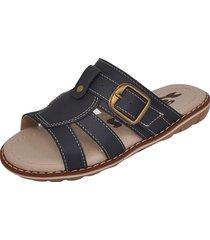 sandália infantil raniel calçados papete chinelo com fivela enfeite marinho