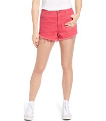 lee high waist cutoff shorts, size 33 in retro pink at nordstrom